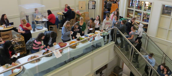 annual cookie break at UNH Library