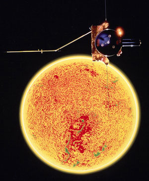 A joint European Space Agency/NASA mission, Ulysses charted the unknown reaches of space above and below the poles of the sun.