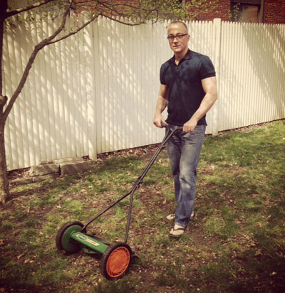 Dan Innis, dean of the Whittemore School of Business and Economics, remembers Harry while recently mowing his small Portsmouth backyard.