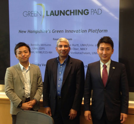 International visitors learn about Green Launching Pad