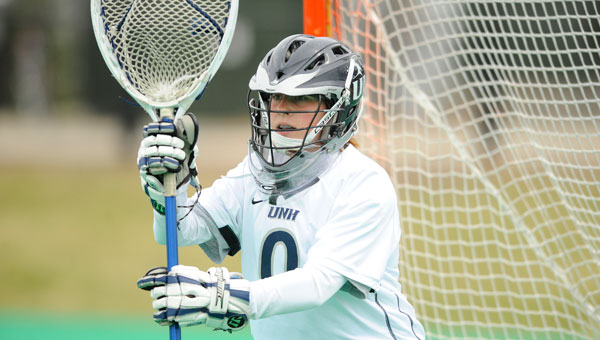 UNH lacrosse goalkeeper Kate Gunts