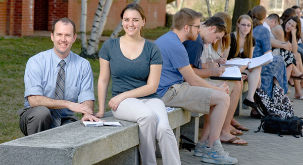 UNH professor Bryan Ness and student Michelle Rosenberg