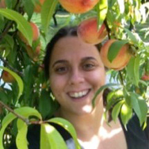 Picture of Danielle in a Peach Tree