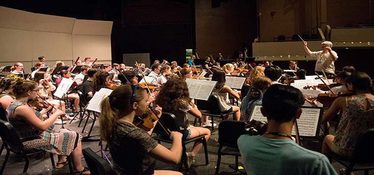 Orchestra of high school students at UNH SYMS
